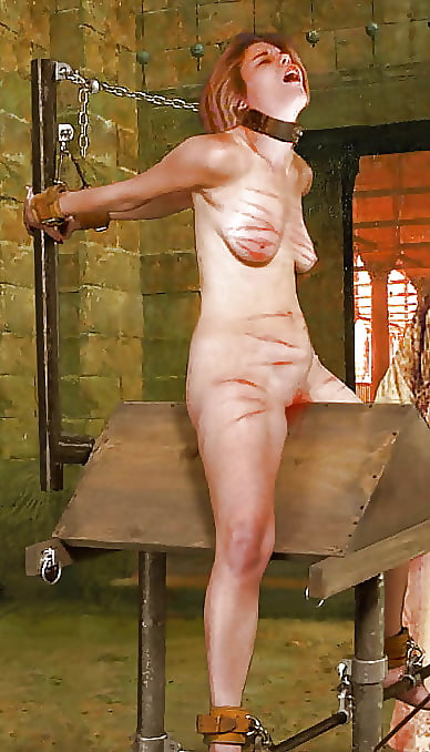 Bdsm wooden horse Submissive Wife