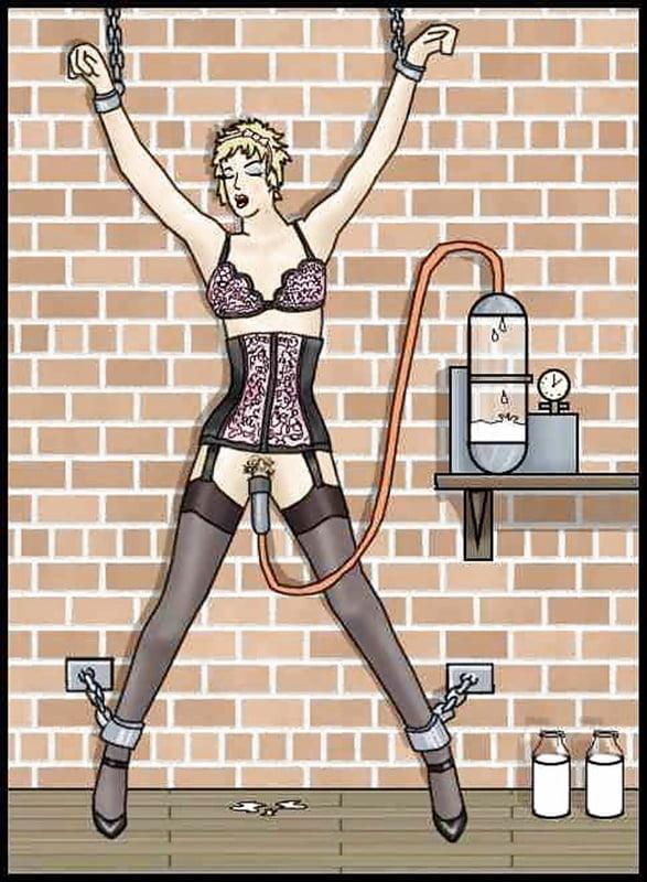 Emplix pantyhose bound milking