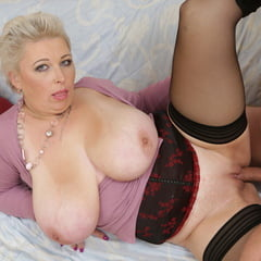 Mature With Giant Natural Tits Fucks Lucky Boy