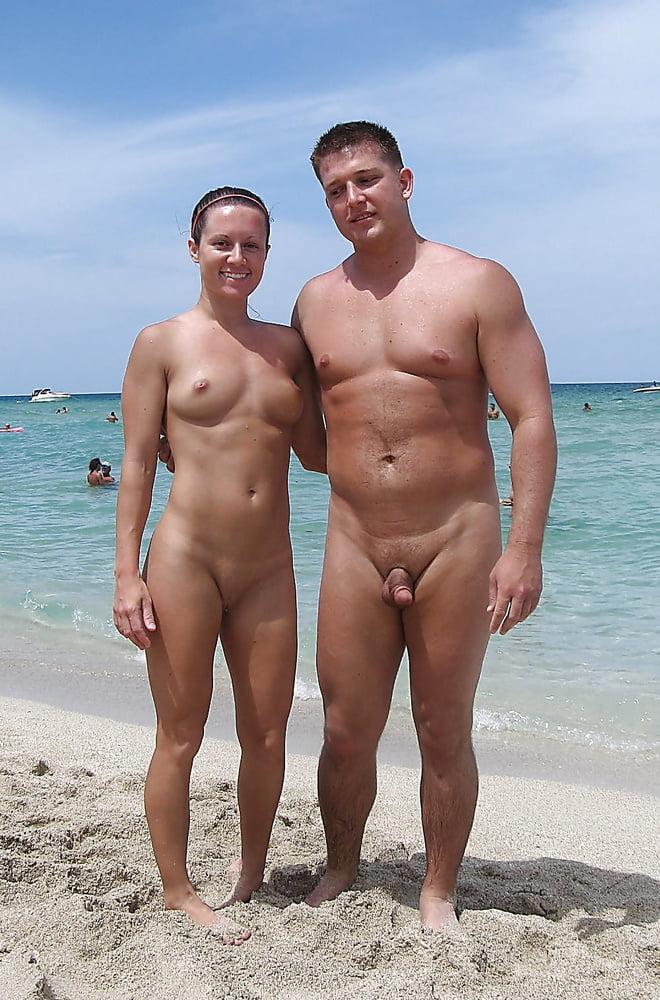 Rear View Of A Senior Couple On A Beach, Sunset Nude Beach, Virgin Islands Stock Photography