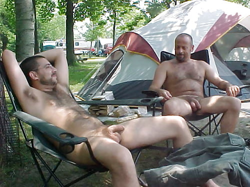 Nude male camping — photo 8