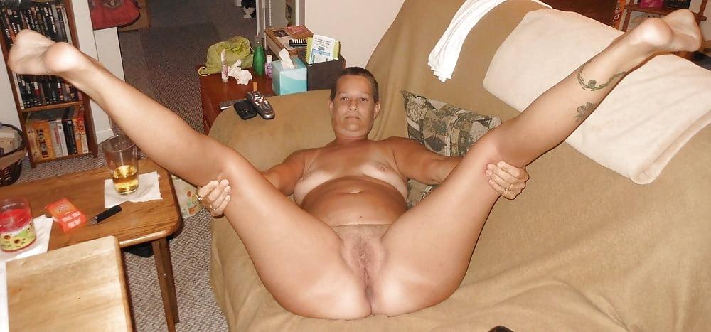 Nude wives spread eagled