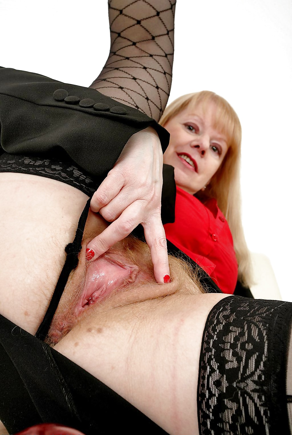 See And Save As Mature Amanda Degas In Black Stockings As -7041