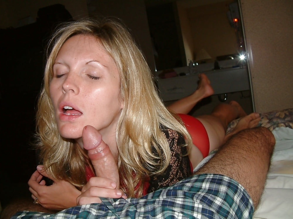 Wife giving husband blowjob couples