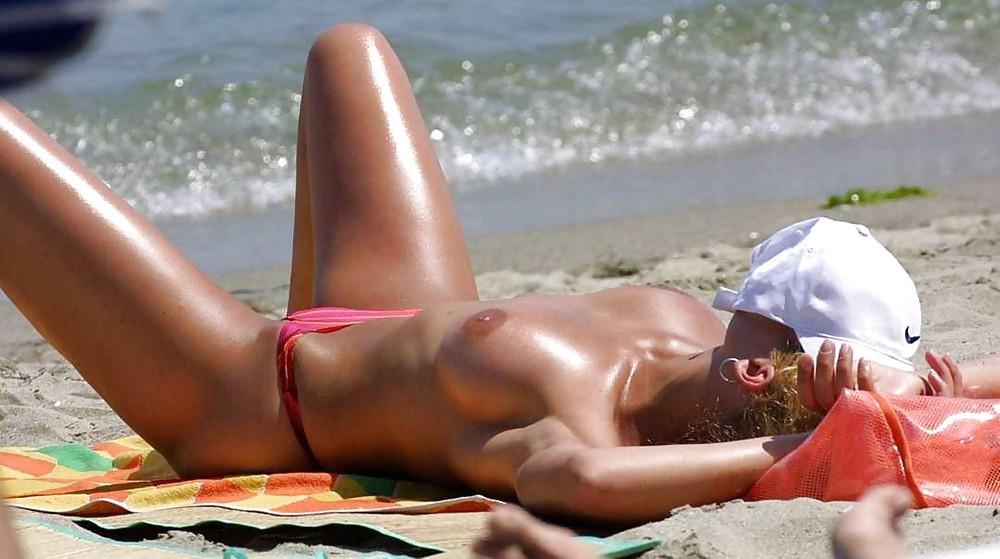 Amature bikini nude sunbathing — pic 5