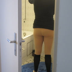 Wife's Pantyhose Of New Years Eve
