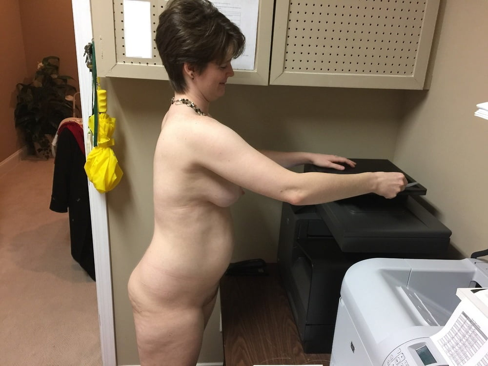 Clothes nude office stolen