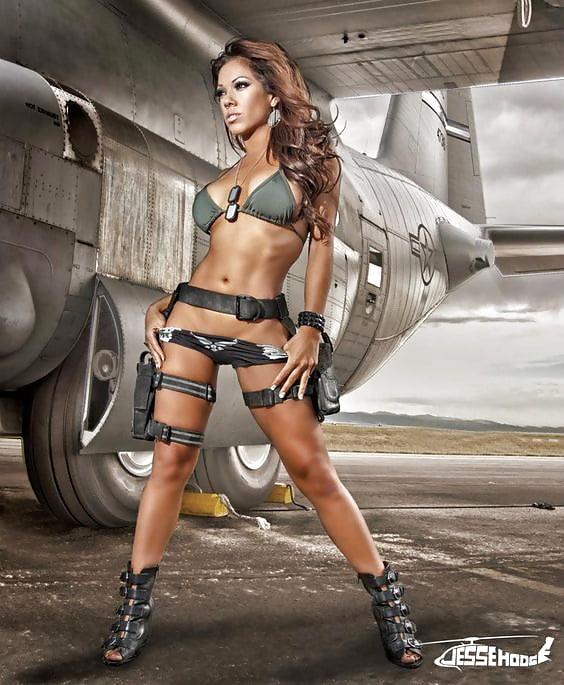 сексуальные девушки в стиле милитари все