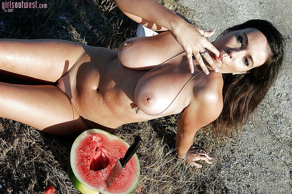 Fucking girls watermelon woman naked fuck
