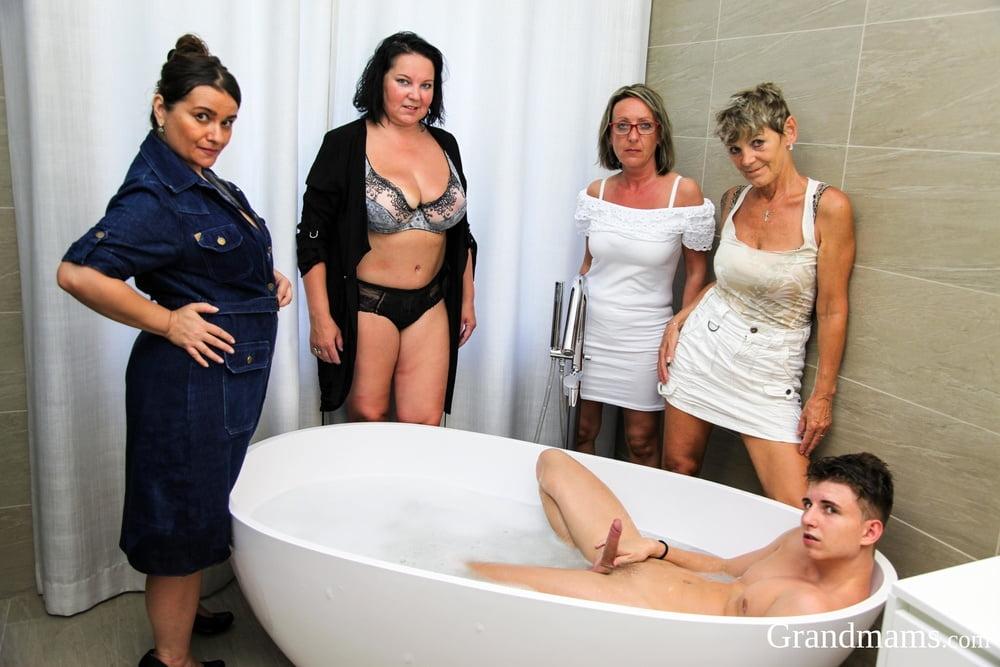 Bbw granny orgy