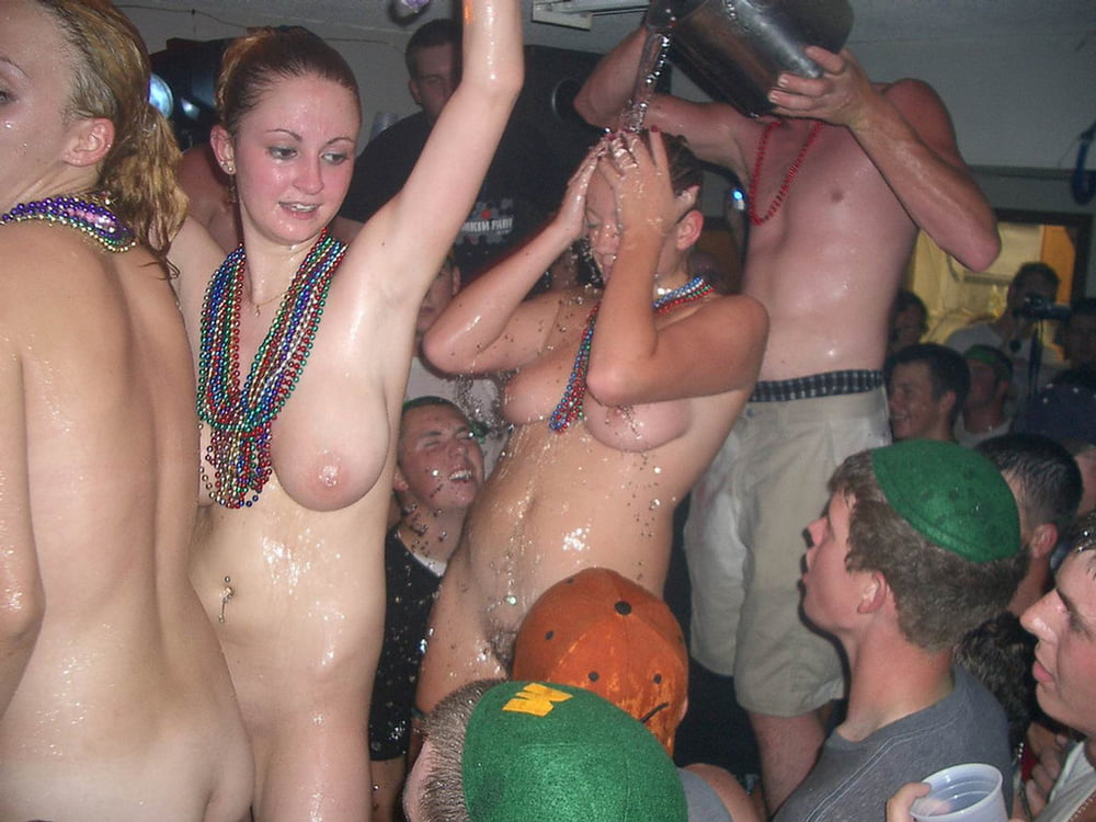 Giving naked girl frat party