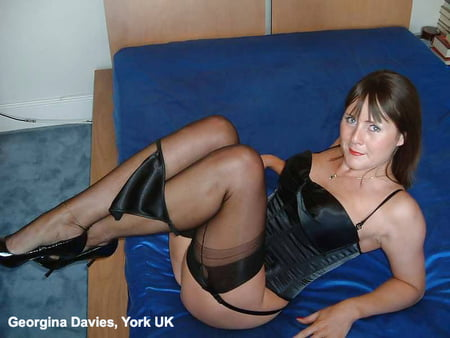 black stockings basque and heels