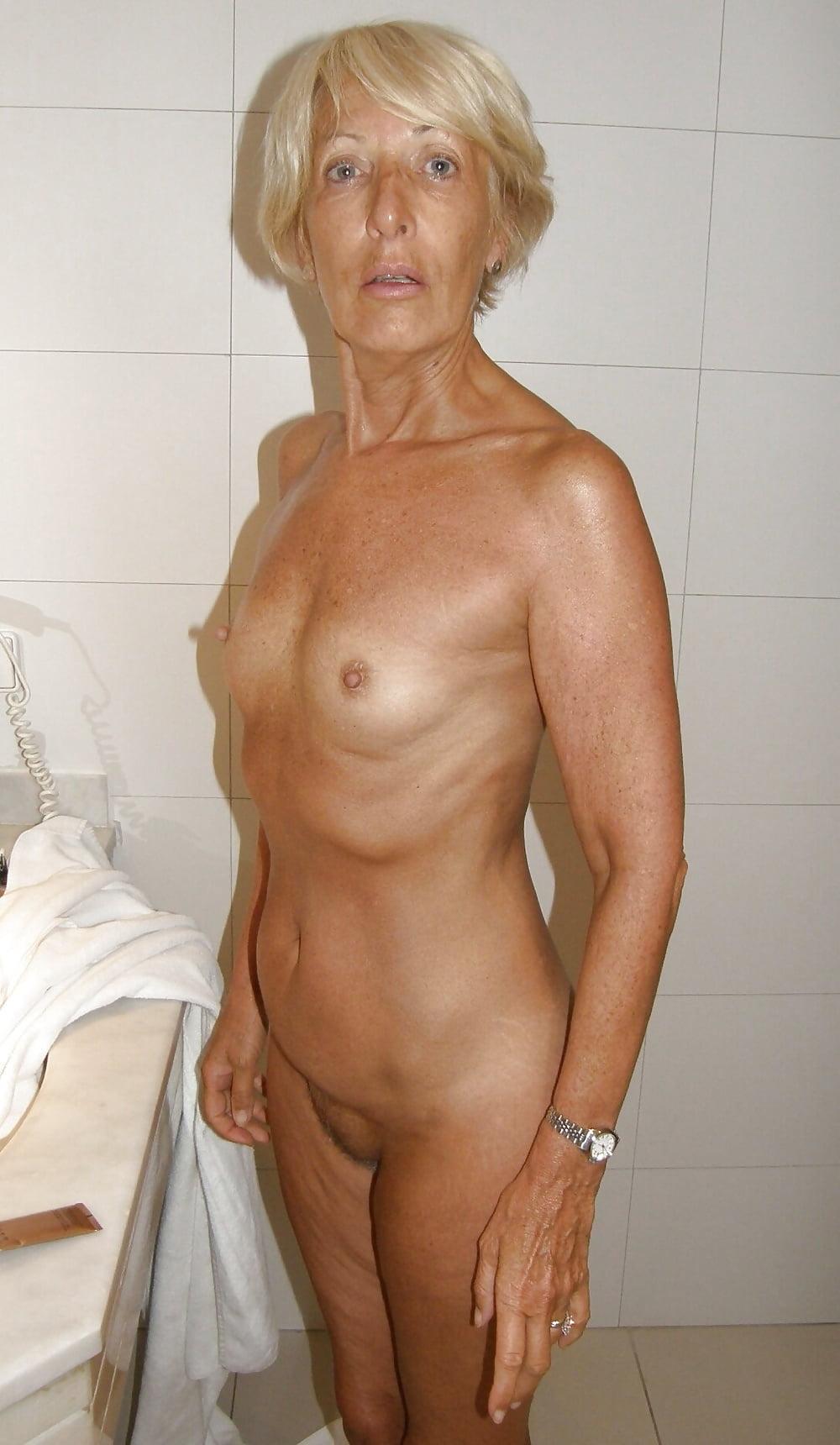 Shy granny nude 14