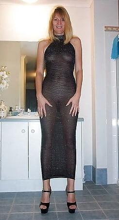 amateur mature naked in sheer minidress