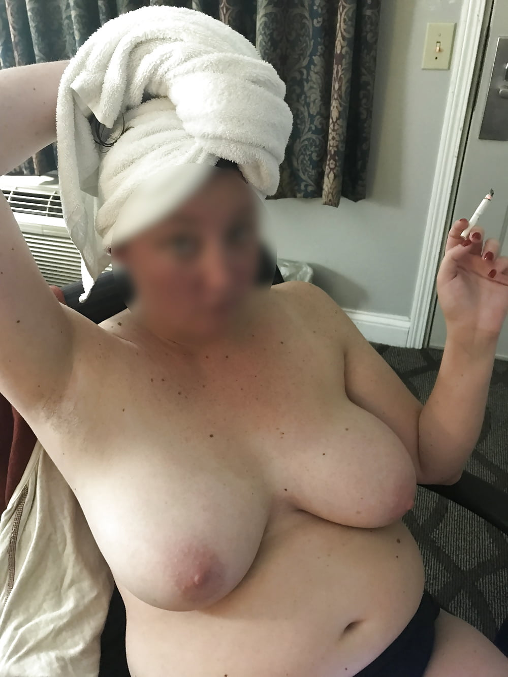 Busty black cleavage