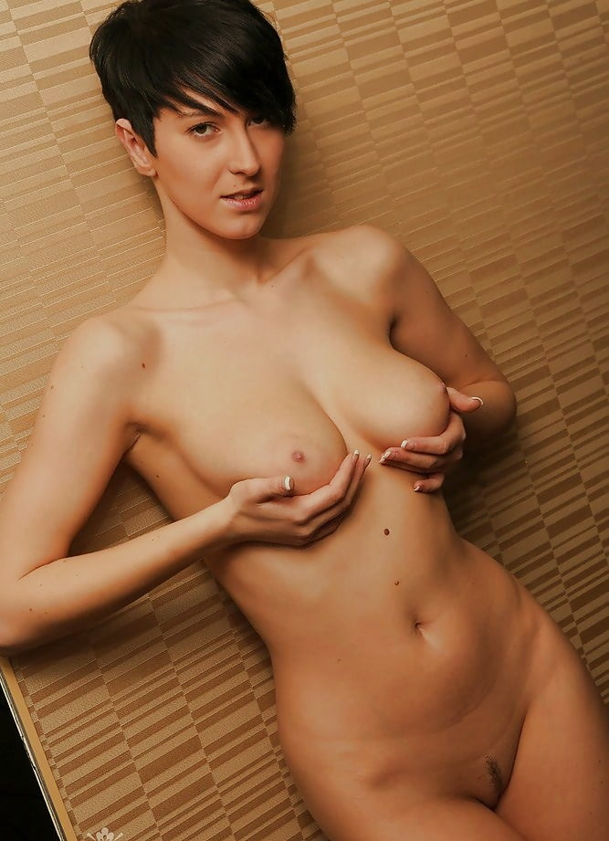 Short black hair naked