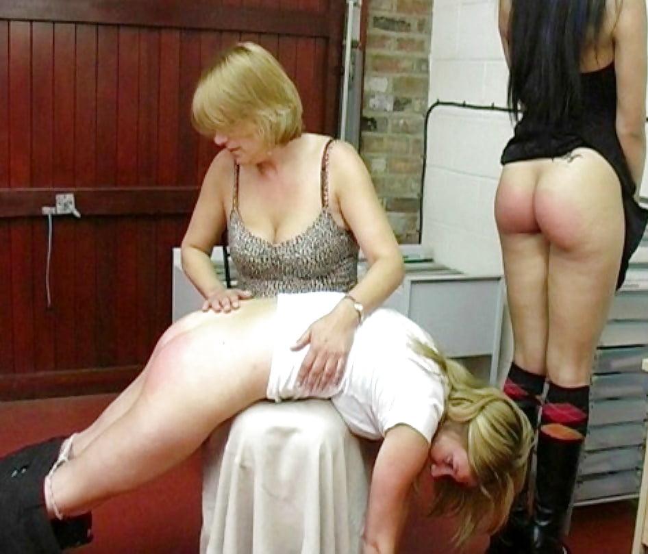 Lesbian spanking pics — 12