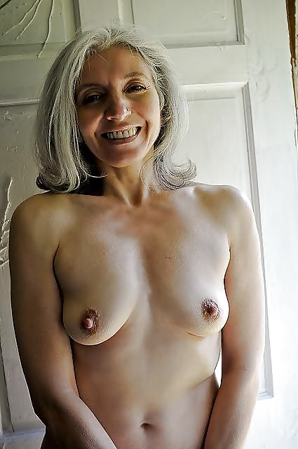 Old woman with short grey hair masturbates in solo gallery