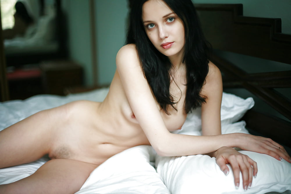 Cute black haired girls naked — pic 10