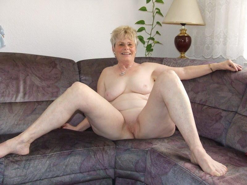 Granny alone nude