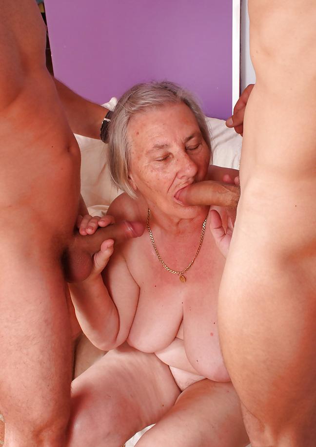 Old granny lesbians having sex