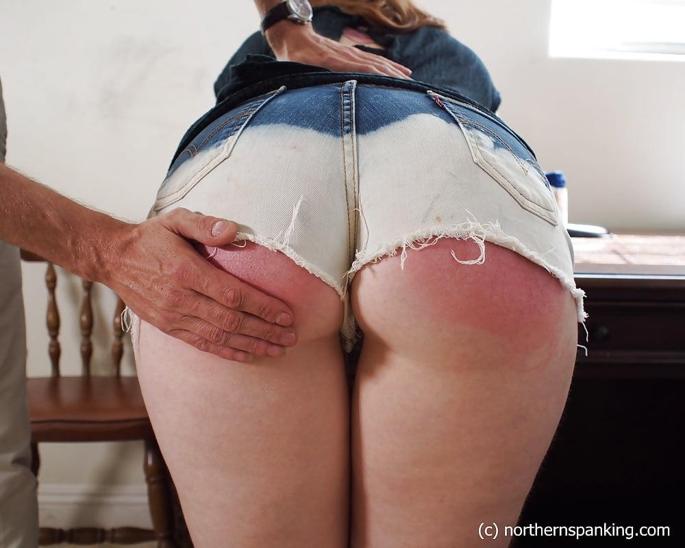 Spank her red bottom, eat pussy funny kitten
