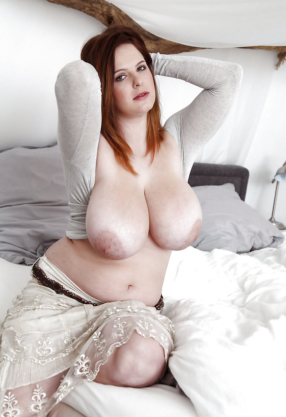 Busty nadine j with big naturals wearing corset