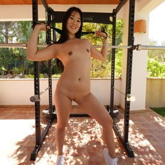 Japanese Model Loves To Work Out In Her Micro Bikini