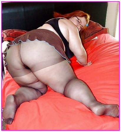in photo Girl pantyhose