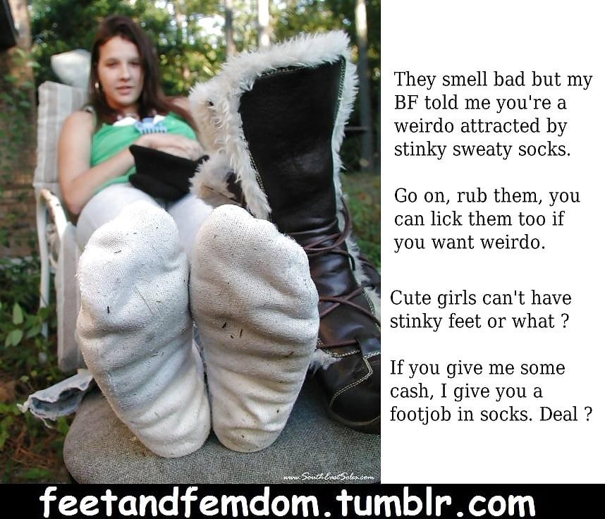 Foot femdom pov captions