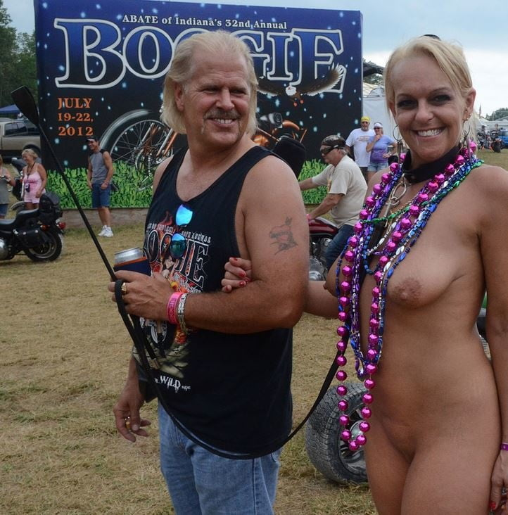 Completely naked biker rally girls — pic 10