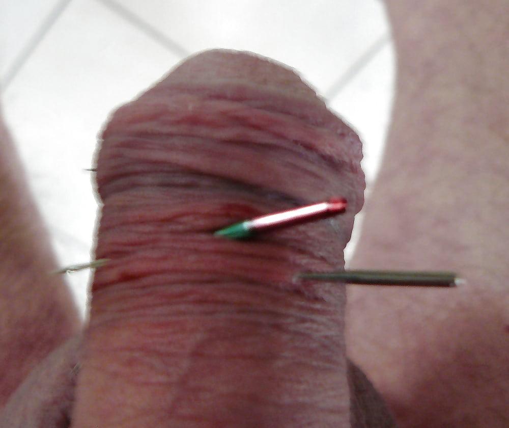 Femdom Needles In Penis Head