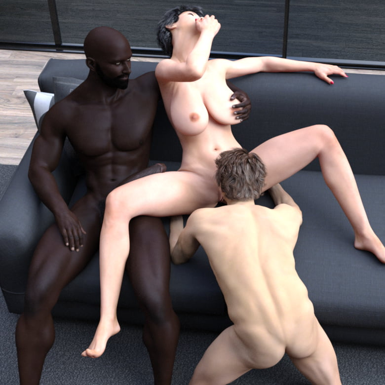 Cuckhold fem dom interracial big dick blow job