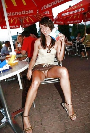 Girls exposing themselves in public