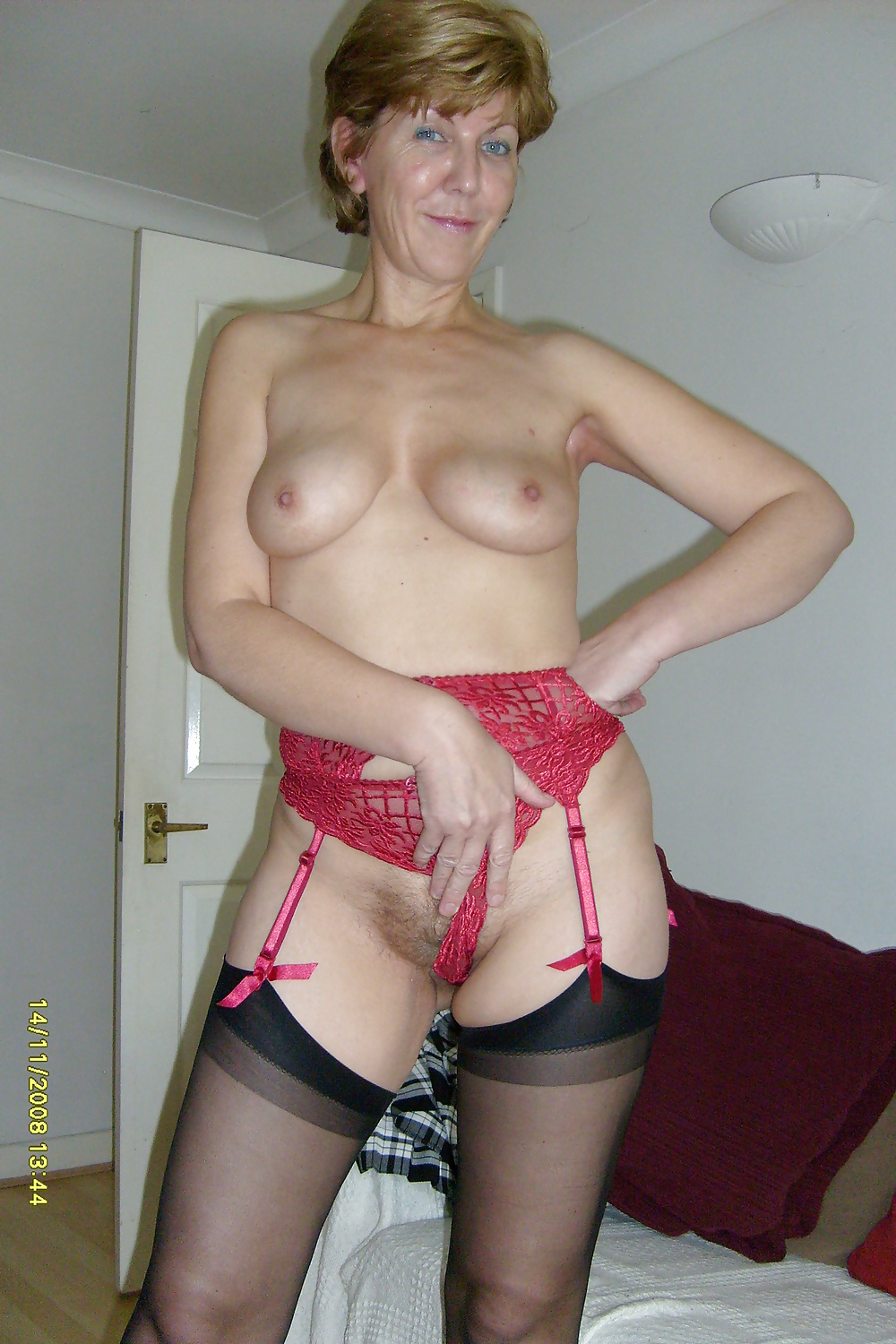 Amateur Mature Wives - Homemade Hairy Wife - Panties -7831