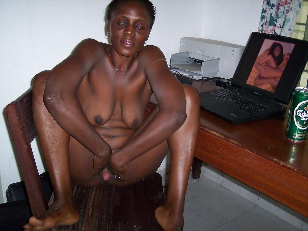 Granny boobs black