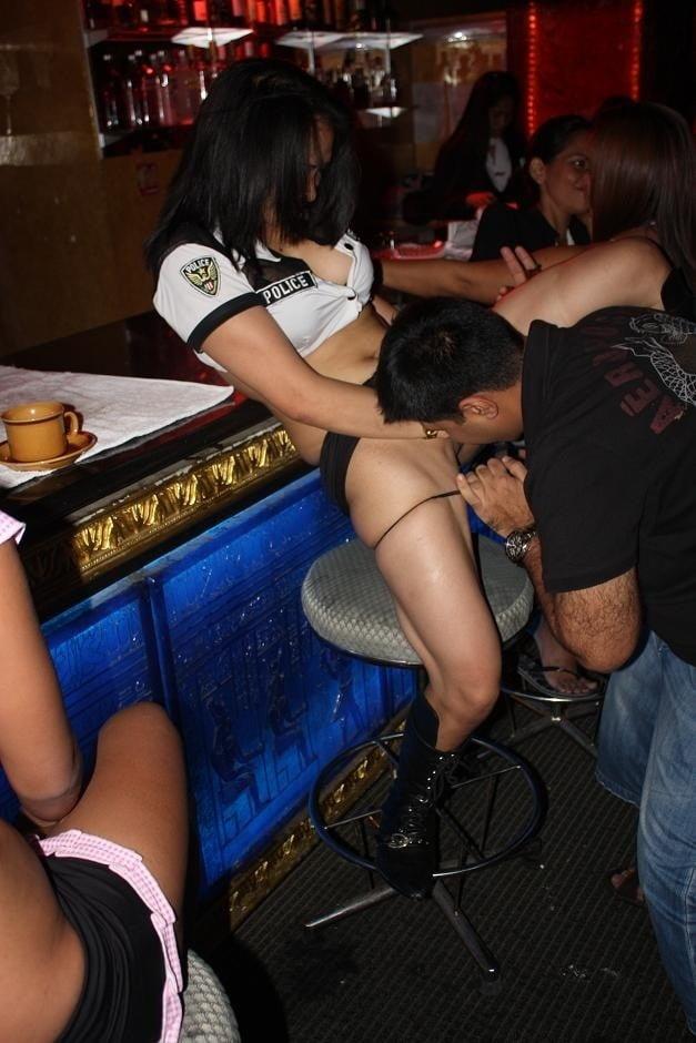 Russian Girl Fucking In The Bar