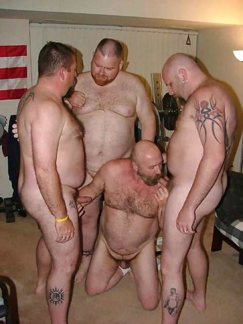 German straight bear group sex