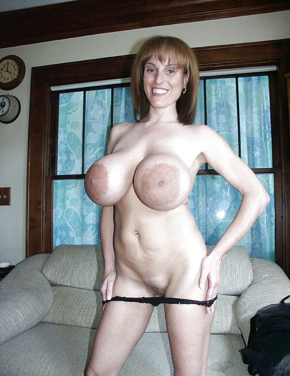 Big natural tits hairy milf strip and fuck