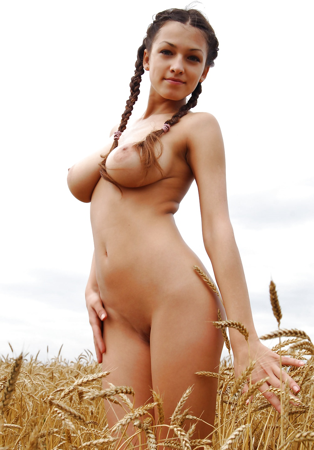 Pigtails girls naked pictures — photo 6