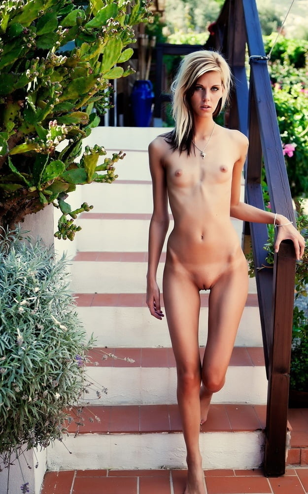 Very flat chested skinny girl nude #10