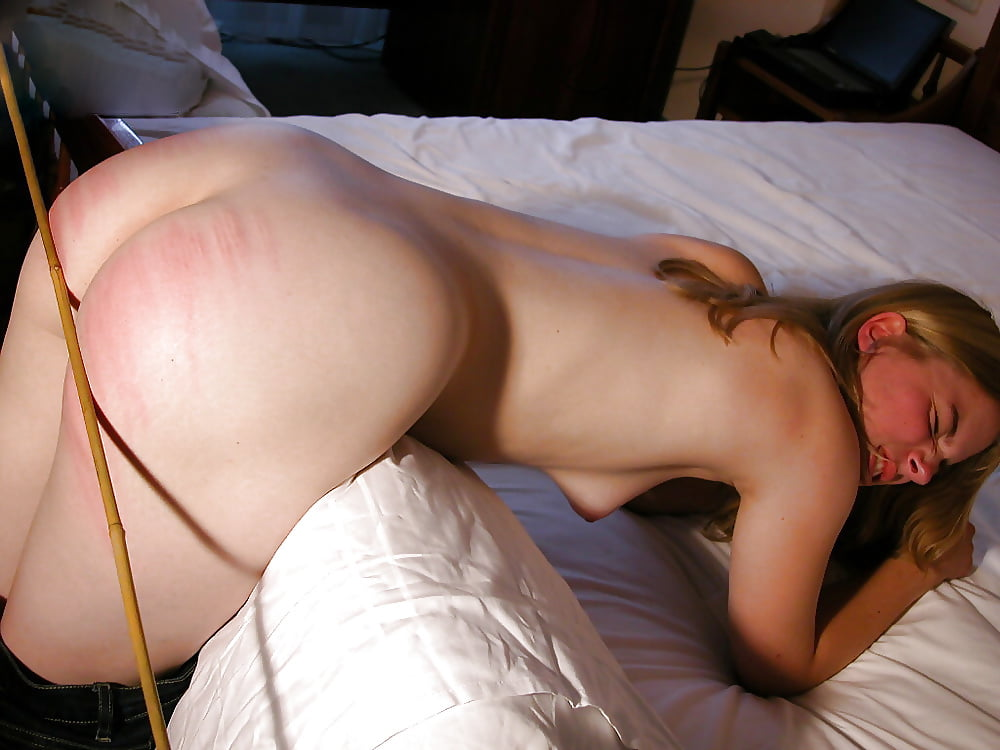 Nude Girl Being Spanked