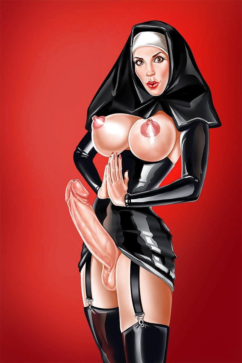 Монашки с хуями трансы