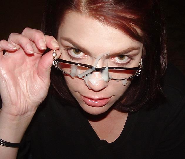 Cumshots on Glasses Mixed Facials porn pictures