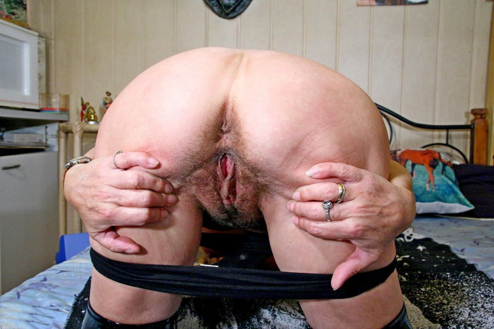 Hairy granny mature asshole ass butthole butt bush spreading spread pussy beaver hairypussy