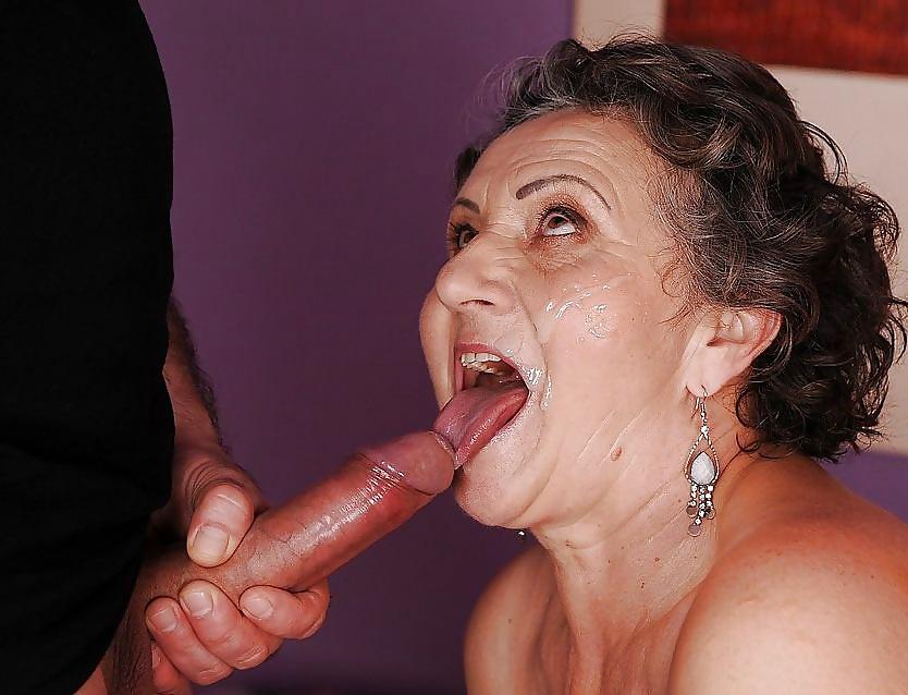 Cum dripping blowjobs older women