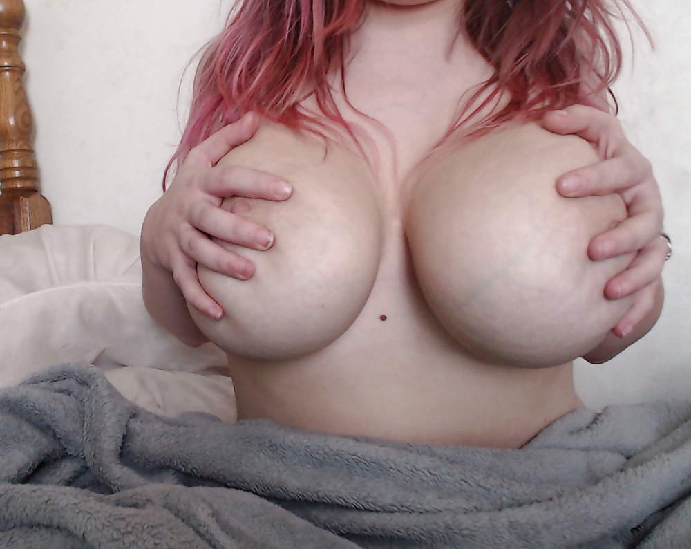 Girl with big ass tits gropes or self