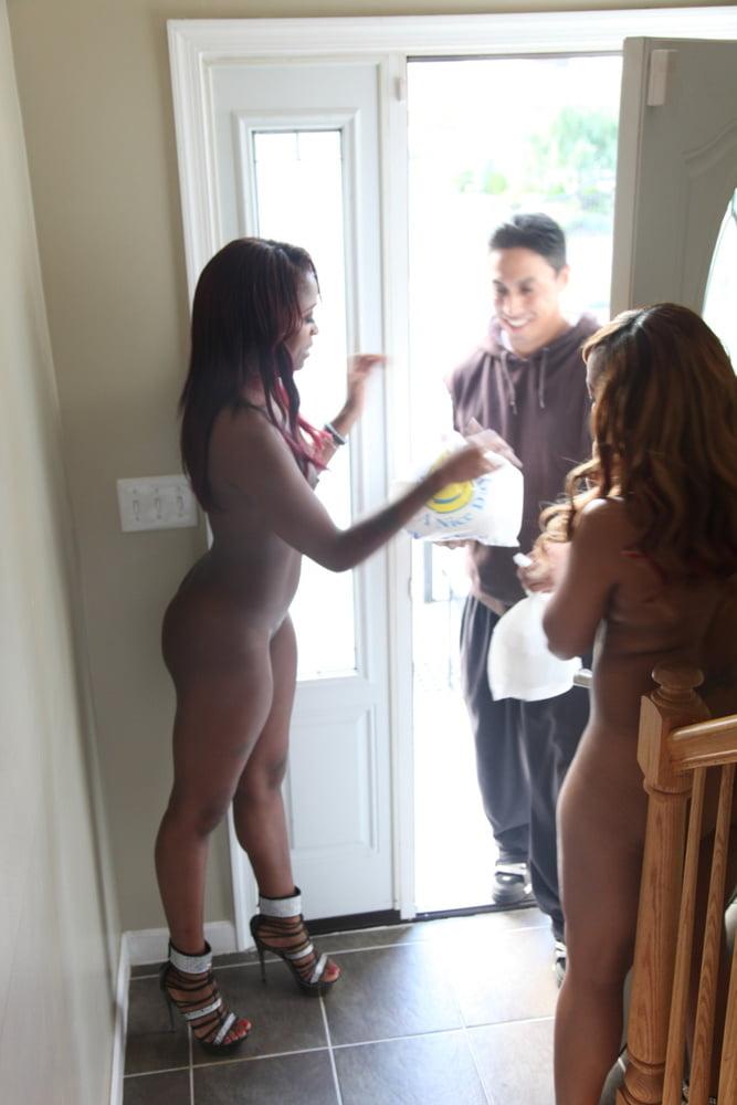 Women nude at the door — pic 9