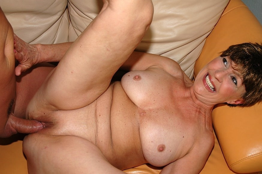 Ugly fat milf laughs and moans