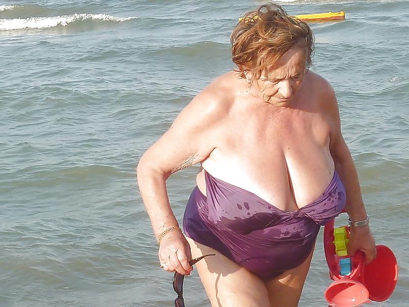 Sexy grannys on the beach
